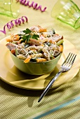 Twist pasta with chicken and vegetables