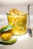 Jar of confit lemons