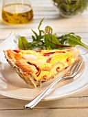 Pepper, parmesan and anchovy oil quiche