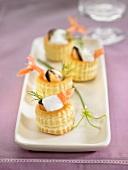 Mini seafood Vol-au-vents