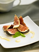 Figs with sweet wine sabayon