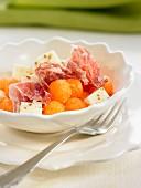 Spanish ham and melon salad