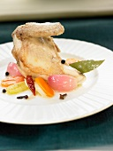 Partridge with vegetables