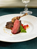 Pigeon with redcurrants