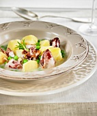 Potatoes with squid