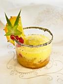 Pineapple and grape juice