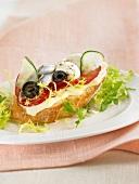 Mediterranean open sandwich