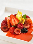 Steamed summer fruit