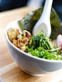 Cucumber and cauliflower Asian dish