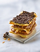 Crisp pastry and coffee cream Mille-feuille