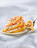 Melon,bacon and mozzarella Mille-feuille