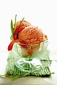 Red pepper ice cream