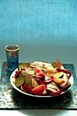 Fish, tomato and zucchini Tajine