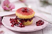 Individual pomegranate soft cake