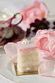Bite-size rose-flavored cake