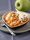Grated carrot and apple salad