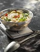 Chicken broth with pimento and citronella