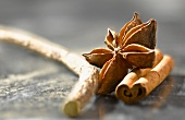 Licorice stick,star anise, and cinnamon