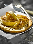 Fennel and aniseed thin pastry tartlet