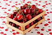 Small crate of cherries