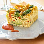 Macaronis and vegetable terrine