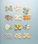 Verschiedene Pastasorten