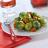 Brussels sprouts with dates and pine nuts