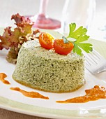 Small herb Flan