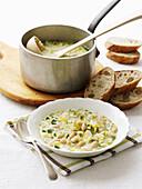 White bean and zucchini soup