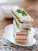 Salmon and herb sandwiches