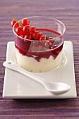 Pannacotta with redcurrant puree