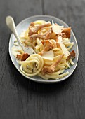Linguine with chanterelles
