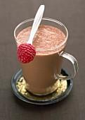 Chocolate and raspberry soup