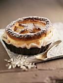 Christmas marzipan tart
