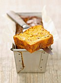 Pumpkin and diced bacon loaf cake