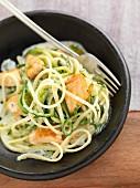 Linguini with salmon