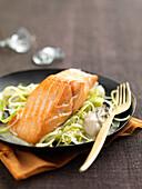 Lachstranche mit Austernsauce