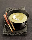 Cream of zucchini soup with mascarpone