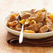 Bourbonnais lamb stew with dried fruit and onions