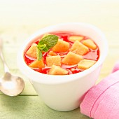 Quercy melon and watermelon soup