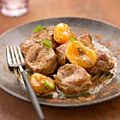 Limousin lamb fillet with dried apricots