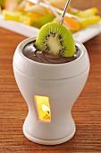 Individual chocolate Fondue