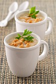 Cream of cauliflower soup with peanuts