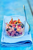 Semolina and summer fruit salad