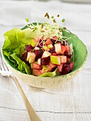 Beetroot, Granny smith and onion salad