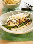 Tofu, shiitake and green bean Nituke