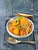 Buckwheat and carrot salad