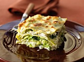 Lasagnes with romanesco cabbage and broccolis