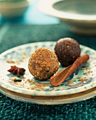 Cocoa and cinnamon truffles