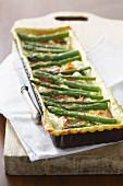 Green asparagus savoury tart